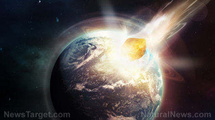 Asteroid-Hit-Earth-Space-Extinction