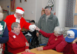 Elderly Veterans receive visit from Santa Claus by Pennsylvania National Guard